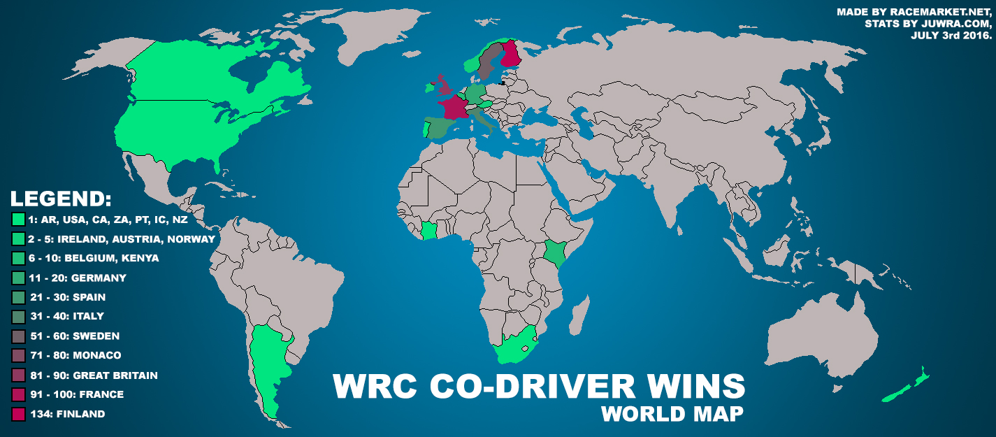 wrc codriver wins map stats