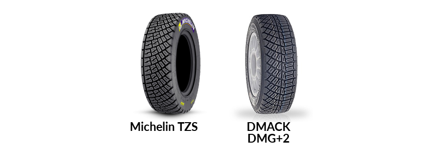 gravel rally tyres michelin dmack