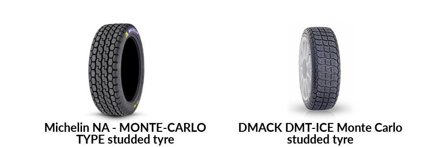 rally snow ice tarmac tyre dmack michelin monte carlo studded