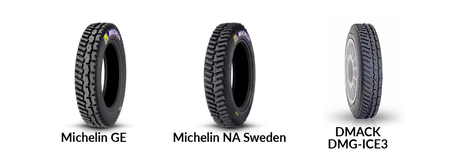 snow studded rally tyres sweden dmack michelin