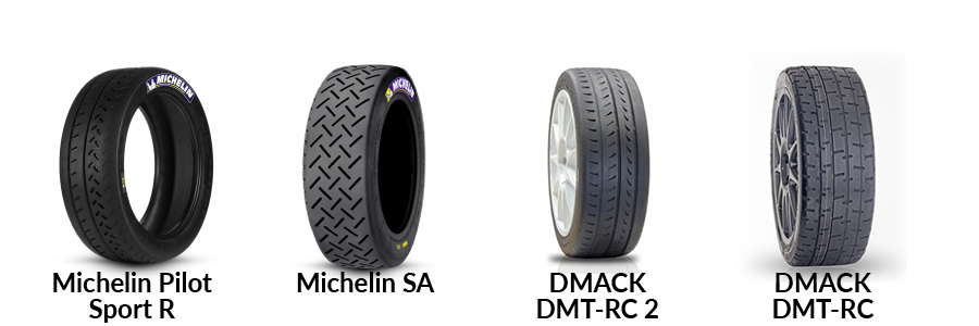 rally tarmac dry tyres michelin dmack