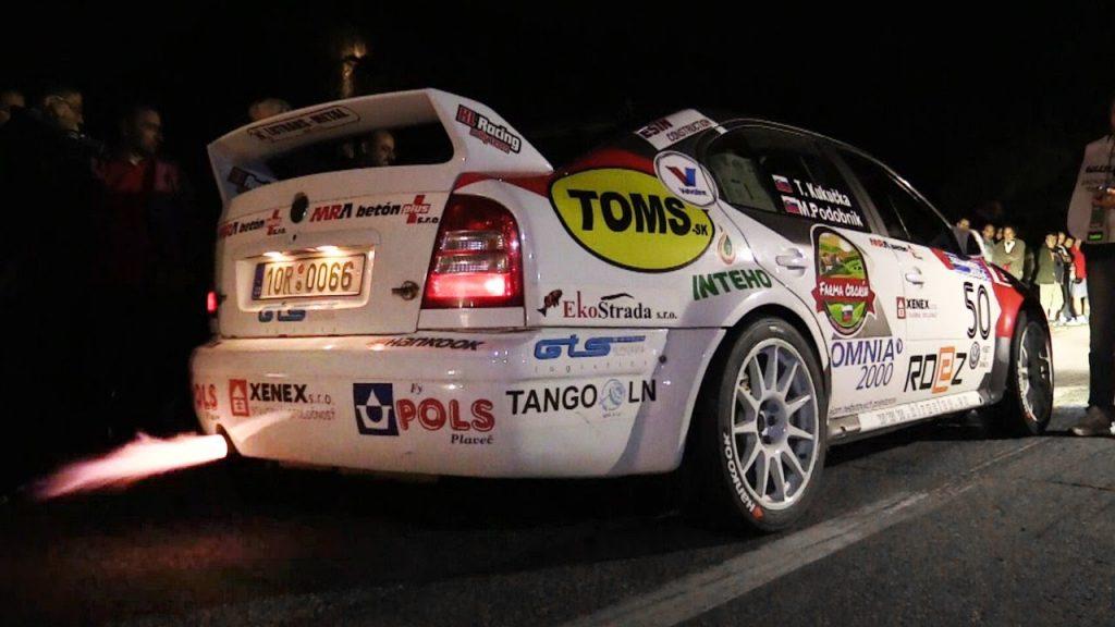 wrc rally car backfire