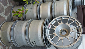 BBS used alloy rims for Ferrari 360 GT2 and 430 GT2