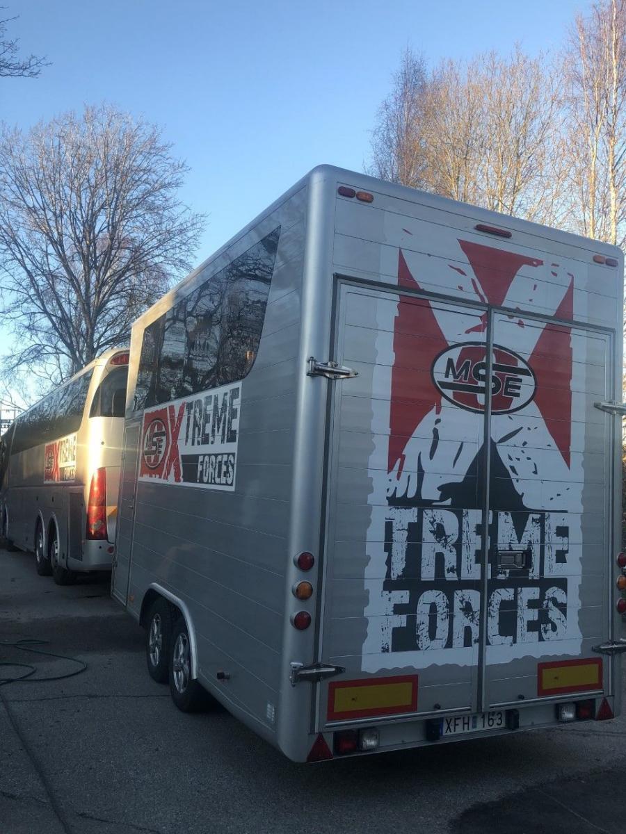 Scania Motorhome + Race trailer - 2